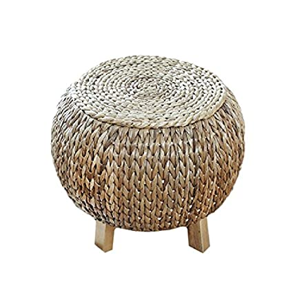 Swell Amazon Com Straw Rattan Sitting Stool Footstool Foyer Gamerscity Chair Design For Home Gamerscityorg