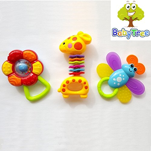 Baby Animals Rattle Toys, Unique Gift Set 3 in 1 - BabyTree(tm)