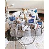 Baby Diaper Caddy Organizer | Bonus Card Holder | Nursery...