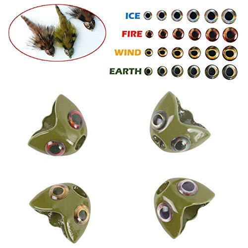 4 Farbe pro Packung 8 Gr/ö/ße 3mm-15mm 4D Fischaugen MAXIMUMCATCH Fischk/öder 4D Lure Eyes Fliegenbinden Material