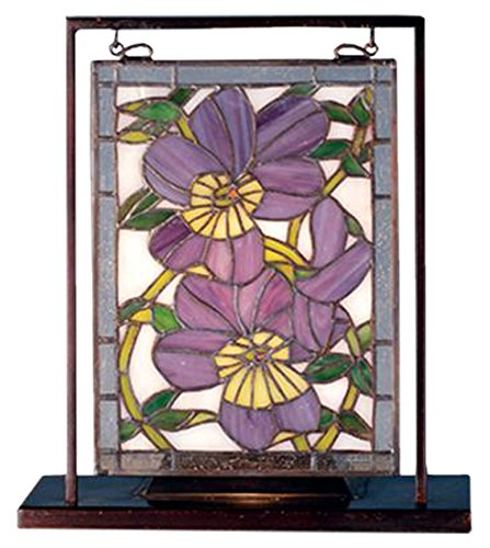 - Floral Pansies Lighted Mini Table Lamp