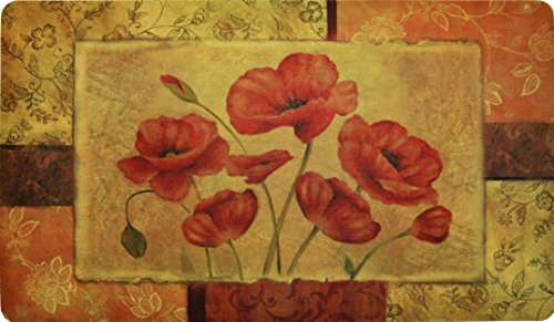 Premium Comfort Kitchen Mats (2-Pack) (Jacobean Poppy)