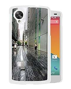 New Beautiful Custom Designed Cover Case For Google Nexus 5 With London Street Rainy Weather (2) Phone Case