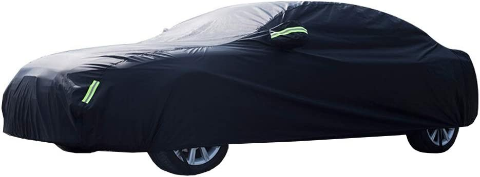 Color : Black, Size : 5.0T V8 R Coupe Car Cover Compatible with Jaguar F-Type Coupe//F-Type R Coupe Protective Cover Breathable Waterproof Dustproof Sunscreen Anti-UV Full car Cover