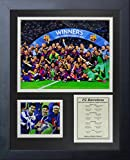 Legends Never Die FC Barcelona 2015 UEFA Champions League Winners Collage Photo Frame, 11'' x 14''