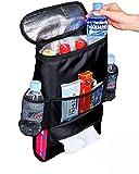 Car Accessories Best Deals - Autoark AK-002 Standard Car Seat Back Organizer,Multi-Pocket Travel Storage Bag(Heat-Preservation)