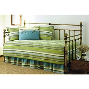 Stone Cottage 5-Piece Fresno Daybed Set, Green Stripe