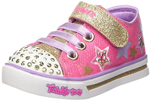 Rosa hot Pink Sparkle Niñas Para Entrenadores Skechers Glitz gold wBCOx1qXv