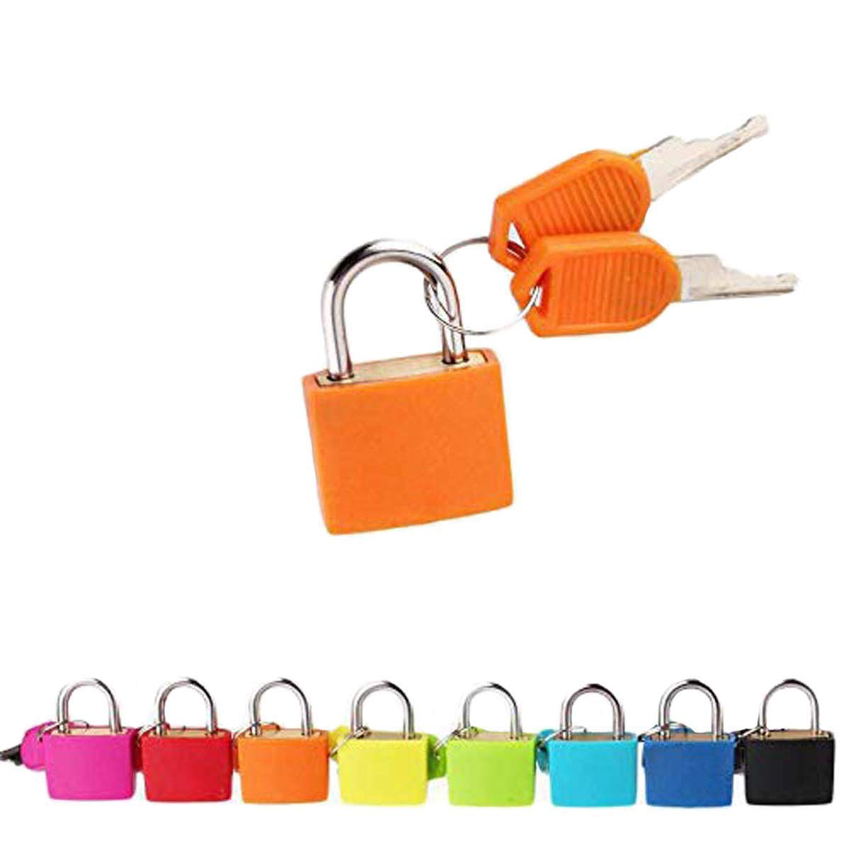Padlock Security Lock Applies to Lockers Backpacks Luggage Computer Bags Toolbox and Other Colorful Colors are Easy to distinguish (8 per Pack)