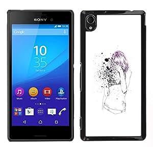 YiPhone /// Prima de resorte delgada de la cubierta del caso de Shell Armor - Emo Chica Sexy flaco - Sony Xperia M4 Aqua