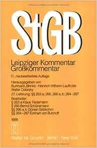 Strafgesetzbuch leipziger kommentar 11 neubearbeitete for Burkhard heinrich