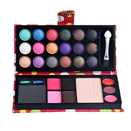 Mchoice 26Colors Eye Shadow Makeup Palette Cosmetic Eyeshadow Blush Lip Gloss Powder ()