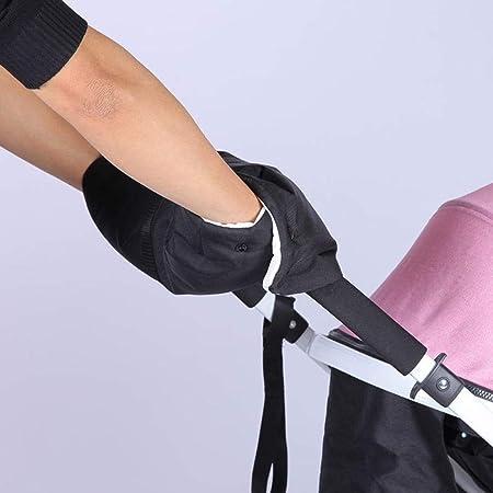Hifot Guantes de silla de paseo Mano de manguito Cochecito de beb/é Cochecito infantil Cochecito Buggy Fleece Mitts Impermeable y anticongelante Beb/é Infante Carro de ni/ño Cubierta de la mano
