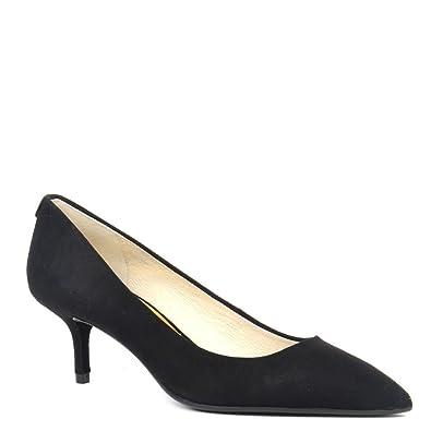 7a7e4a8573e MICHAEL Michael Kors MK Flex Black Suede Kitten Heel Pump Black 38.5 ...
