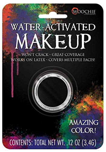 Woochie Water Activated Makeup - Professional Quality Halloween and Costume Makeup - (Black, 0.1 oz)