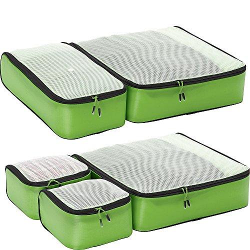 eBags Ultralight Travel Packing Cubes - Lightweight Organizers - Super Packer 5pc Set - (Green) ()