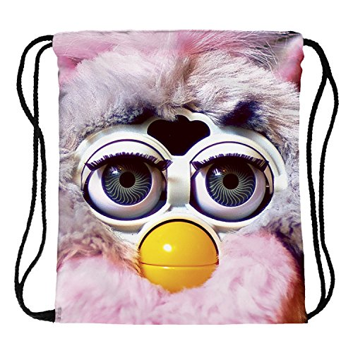 Fringoo® Beutel für Jungen und Mädchen mit Kordelzug für Turnzeug, als Fitness-Tasche, fürs Schwimmen, Reisen und die Schule, als Sporttasche, Pouch Bag, Seesack Furby - Drawstring
