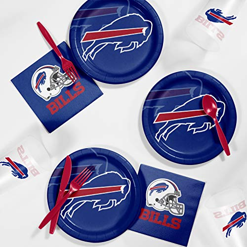 Kit Bills Tailgate Buffalo - Creative Converting Buffalo Bills Tailgating Kit, Serves 8