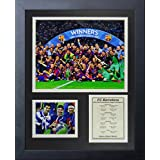 """Legends Never Die FC Barcelona 2015 UEFA Champions League Winners Collage Photo Frame, 11"""" x 14"""""""