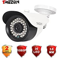 TMEZON 1/2.9 2.0MP 1080P HDCVI Bullet Security Camera Surveillance Outdoor Water-proof 3.6mm Wide Angle View Lens 36 IR Leds Color Video Surveillance