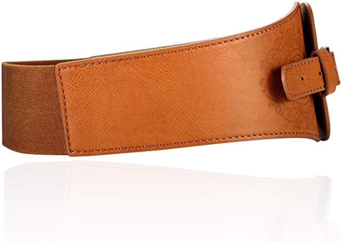 Corset Belt Elastic Stretch Belt Womens Fashion Wide Faux Leather Waist Belt Stretchy Corset Cinch Belt