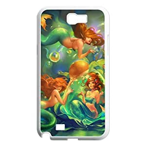 Samsung Galaxy Note 2 N7100 Little mermaid Phone Back Case Personalized Art Print Design Hard Shell Protection DF067206