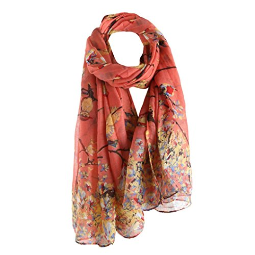 Wrap,lookatool fashion Women Printed Long Scarf Warm Wrap Shawl - Knit Wool Fringed Long Scarf
