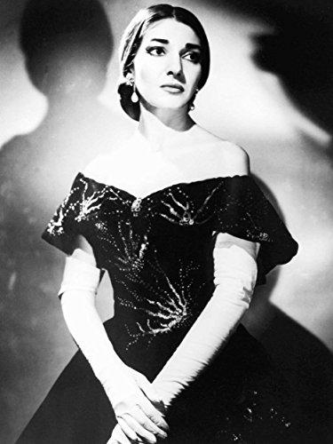 Art Photo Maria Callas Opera Singer Black White Portrait Poster Print