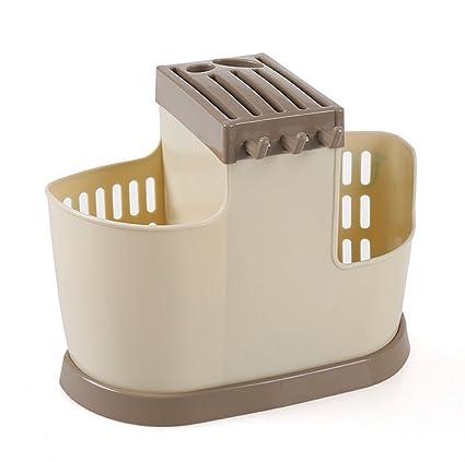 Multifuncional palillos jaula de secado de drenaje Almacenamiento Caja cuchara/tenedor cuchara cuchillo cubertería soporte