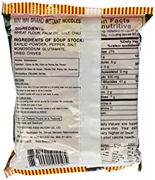 WAI WAI Instant Noodle (Oriental Style) - 1.93oz - 60g (Pack of 30)