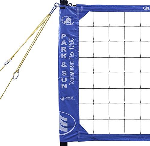 Park & Sun Sports Tournament Flex 1000: Portable Outdoor Volleyball Net System, Blue