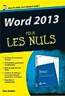 Word 2013 Pour les Nuls par Gookin
