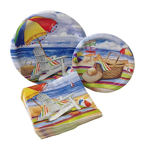 Day-at-the-Beach-Party-Bundle-with-Paper-Plates-and-Napkins-for-8-Guests