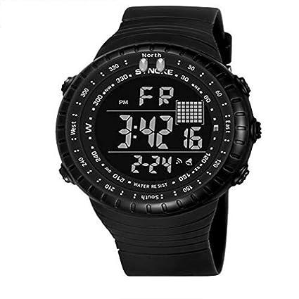 5d580eb7d805 Xhyqs Tiempo Nobel Wish Explosión Impermeable Multifunción Reloj  Electrónico Al Aire Libre LED Moda Hombre Estudiante