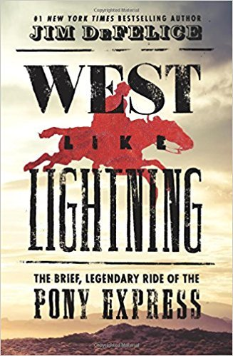 est Like Lightning: The Brief, Legendary Ride of the Pony Express (Hardcover)【2018】 by Jim DeFelice (Author) (Hardcover) (Express Brief)