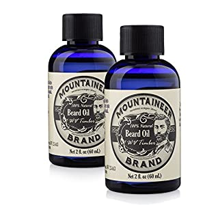 Beard Oil by Mountaineer Brand, WV Timber, Scented with Cedarwood and Fir Needle, Conditioning Oil , 2 oz bottle (2)