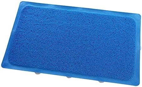 GHHQQZ バスルームのカーペット マッサージ ノンスリップ 強い吸盤 PVC トイレ キッチン フットパッド 家庭 バスルームラグ 、 6色、 厚さ0.4 cm 43x73cm (Color : Blue, Size : 42x91cm)