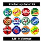 SODA POP LOGO BUTTONS PINS BADGES cute gifts jewelry supplies retro vintage new