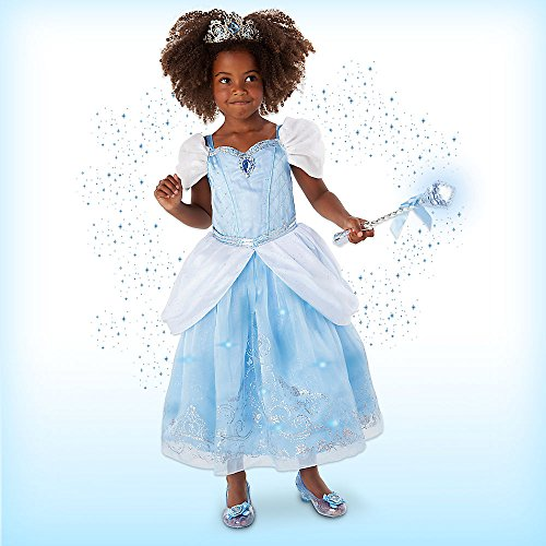 Disney Cinderella Interactive Deluxe Costume Set for Kids Size 9/10 Blue (Make A Wish Costumes)