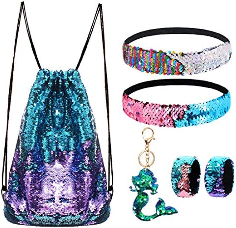 Mermaid Reversible Sequin Drawstring Backpack product image