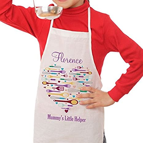 Personalised Heart Style Mummy/'s Helper Children/'s Apron kids cooking apron