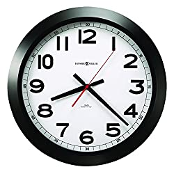 Howard Miller Elegant Norcross Auto Daylight-Savings Wall Clock, 15-3/4, Black (625509)