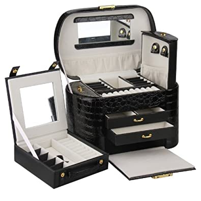 Rowling Large Jewellery Box Beads Storage Display Case jewellery