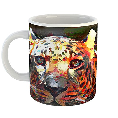 Westlake Art Leopard Zoo - 11ozCoffee Cup Mug - By Abstract Artwork Home Office Birthday Christmas Gift - 11 Ounce (Leopard Costume Face Paint)