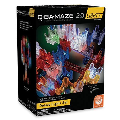MindWare Q-BA-Maze 2.0 Lights: (Deluxe Set) (Q Ba Maze 2-0 Starter Stunt Set)