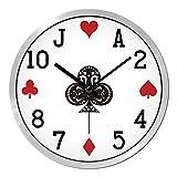 Personality poker wall clock,Living room Bedroom Creative wall clocks Modern minimalist silent watch Decorative quartz clock-C 12inch