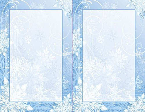 Winter Wonderland 2 UP Christmas Invitations w/ Envelopes, 5.5