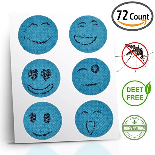 Comfort Road - Mosquito Repellent Patch 72 Count Keeps Insects and Bugs Far Away, Simply Apply to Skin and Clothes , Adult, Kid-Friendly , Convenient For Travel, Outdoor and Camping