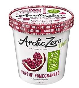 Arctic Zero Creamy Pint, Poppin' Pomegranate, 16 Ounce (Pack of 6)