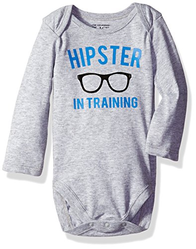 The Children's Place Baby Bodysuit Talker, Hipster, 0-3 Months